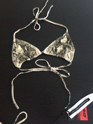 Bikini beige chiaro-grigio scuro
