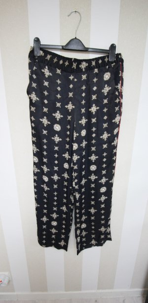 H&M Trousers black-gold-colored