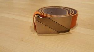 Bernd Götz Cintura di pelle arancione Pelle