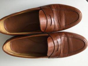 Mokassins / Slipper Gr. 39 VOLLLEDER ;  Farbe Cognac