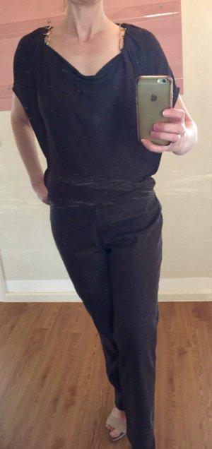 Escada Cowl-Neck Shirt black brown viscose