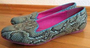 nur noch bis 22.10: Ballerinas türkis/pink snake Muster in Gr. 40 von Even & Odd