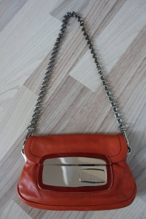 NUR NOCH HEUTE!!! * LETZTE REDUZIERUNG!!! * Superschöne PRADA Mini-Tasche * oranges Leder mit Spiegelverschluss * Sammlerstück!