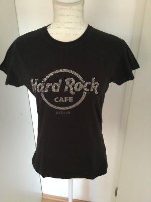 Camiseta negro-color plata Algodón