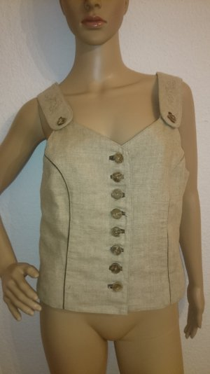 Traditional Vest multicolored linen