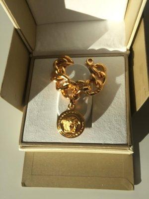 NUR NOCH KURZE ZEIT!!!  Neuwertig: Armband mit Medaillon -MEDUSA;  Versace VINTAGE gold - Unisex