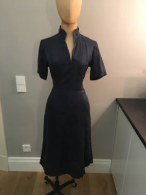 Midi Dress blue silk