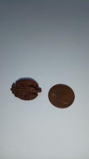 Nussholzbrosche Ethno-Stil Natur braun Miniatur