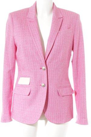 NVSCO Jerseyblazer pink-wollweiß Nadelstreifen Street-Fashion-Look