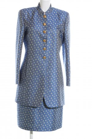 NVSCO Traje para mujer azul-blanco puro estilo extravagante