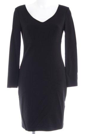 NVSCO Langarmkleid schwarz Elegant