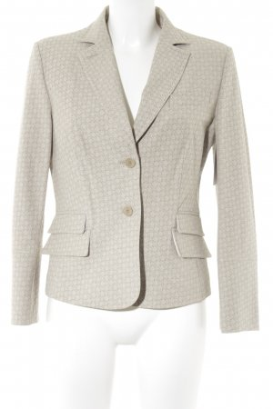 NVSCO Long-Blazer beige-hellbeige abstraktes Muster Business-Look