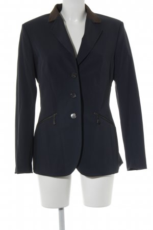 NVSCO Long-Blazer dunkelblau-bronzefarben Business-Look