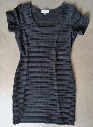 NVSCO Robe stretch noir tissu mixte