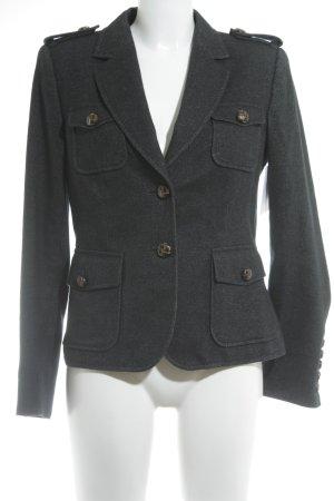 NVSCO Wollen blazer antraciet-zwart gestippeld casual uitstraling