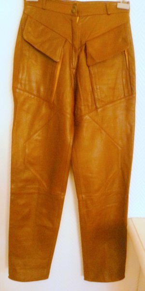 Vera Pelle Leather Trousers light brown leather