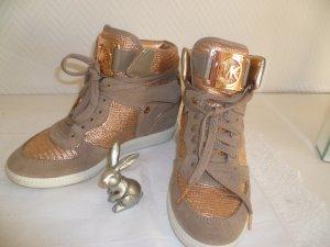 NW - Michael Kors - LEDER Sneaker/ Stiefelette  - Schnürung Gr. 38/ 7,5-LETZTER PREIS