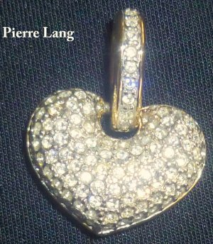 NW- PIERRE LANG - Herzanhänger mit Zirkonia Steinen -Vorführkollektion