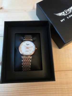 Watch silver-colored-light grey