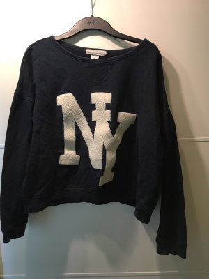 H&M L.O.G.G. Sweater donkerblauw-wit