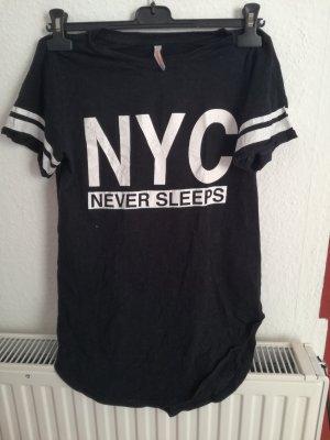 NYC Longshirt schwarz