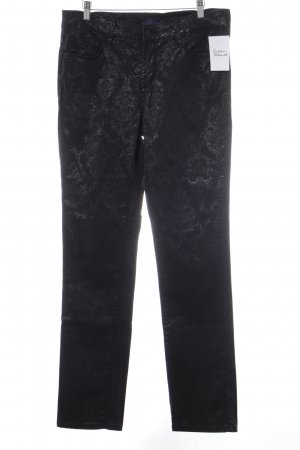 NYDJ Pantalon cinq poches noir motif floral scintillant