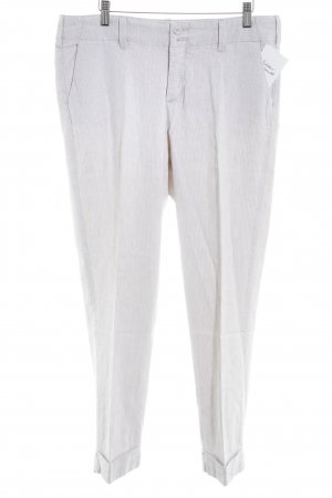 NYDJ Linen Pants natural white-cream striped pattern casual look
