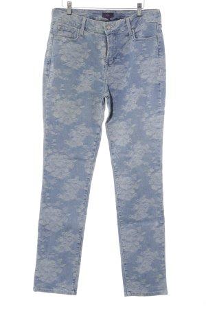 NYDJ Skinny Jeans himmelblau-blassblau Blumenmuster Jeans-Optik