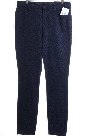 NYDJ Slim Jeans dunkelblau-blau Leomuster Casual-Look