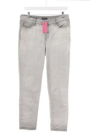 NYDJ Slim Jeans hellgrau-weiß Casual-Look