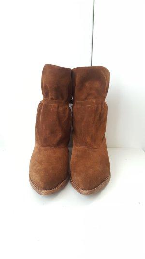 Ankle Boots cognac-coloured suede