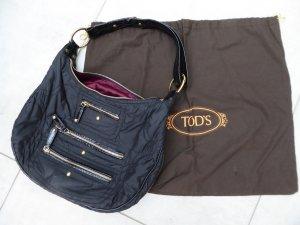 Nylonhandtasche mit Zipperdetails