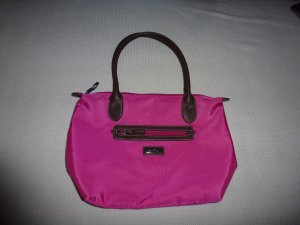 Tom Tailor Borsa con manico magenta-marrone scuro Nylon