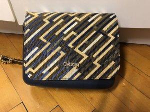 O bag Gekruiste tas donkerblauw-goud