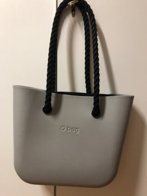 O bag Bolso barrel gris claro-negro
