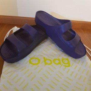 O Bag Shoes Pantolette mit Plateausohle dunkelblau  Gr. 39 Neu mit Etikett