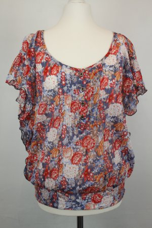 O'Neill Bluse Schlupf-Bluse Gr. M rot blau Blumen