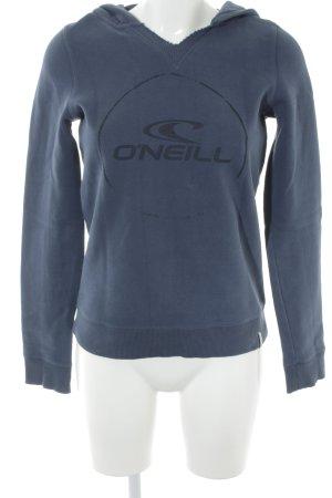 O'neill Jersey con capucha azul oscuro letras impresas look casual