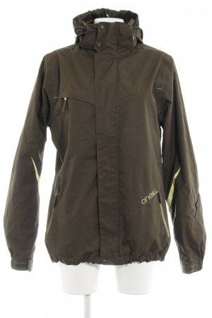 O'neill Outdoorjacke khaki-gelb florales Muster Casual-Look