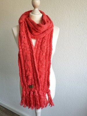 ONEILL Crochet Scarf salmon mixture fibre