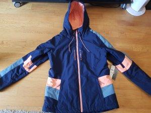 O'Neill Snowboardjacke, Gr. XL, blau/apricot, Neu