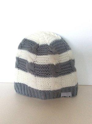 O'neill Strick-Woll-Mütze Grau-Weiß