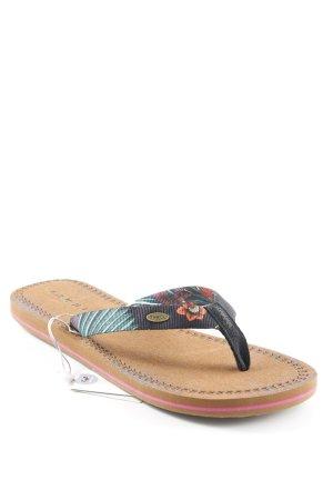 O'neill Toe-Post sandals black-light brown flower pattern beach look