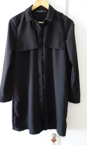 O'nommo Kleid Bluse Longbluse schwarz Gr. S (36/38) loose fit Casual Chic