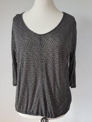 Opus Camisa tipo túnica negro-beige claro