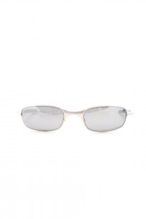 Oakley Angular Shaped Sunglasses light grey-silver-colored elegant