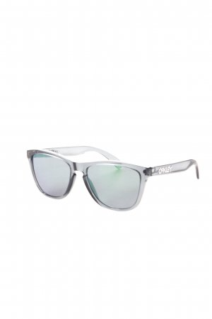 Oakley Angular Shaped Sunglasses slate-gray-green transparent look