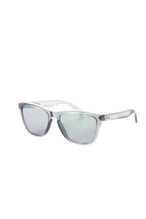 Oakley eckige Sonnenbrille graublau-grün Transparenz-Optik