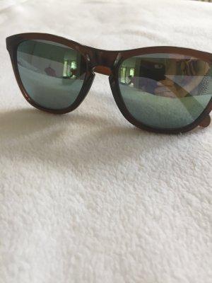 Oakley Frogskins Sonnenbrille, braun/Transparent mit 2 Paar Gläsern