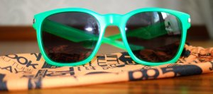 Oakley Glasses neon green synthetic material
